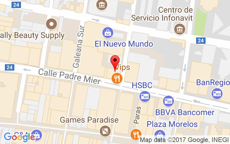 Emilio Carranza #732 Int. 507, Col Centro Monterrey, Entre Av. Padre Mier y Matamoros. Edifico Chapa, Monterrey, NL.